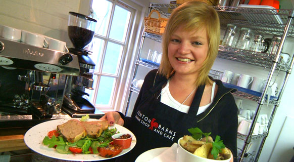 Photograph of one our lovely waitresses at Fenton Barns Café